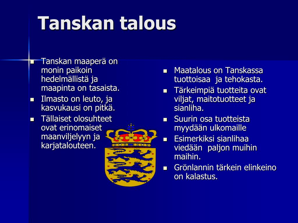 Ppt Tanska Powerpoint Presentation Free Download Id 1952008
