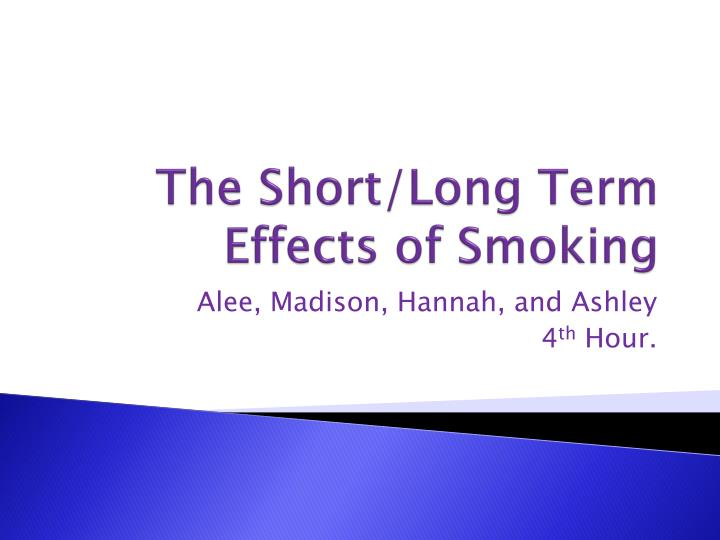 the effects of long and short What are the short-term effects of crack cocaine crack causes a short-lived, intense high that is immediately followed by the opposite—intense depression, edginess and a craving for more of the drug.