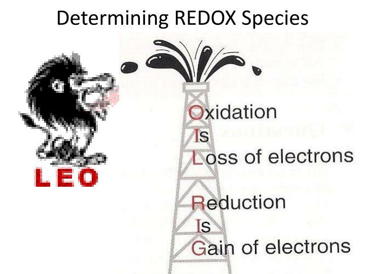 Determining REDOX Species