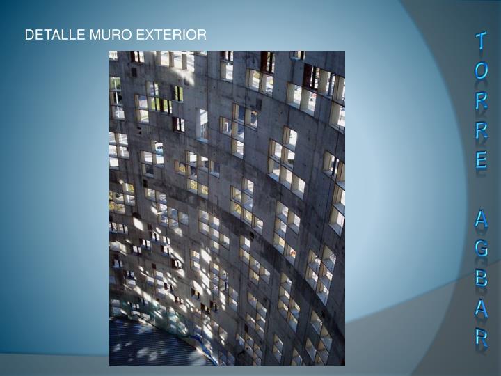 DETALLE MURO EXTERIOR