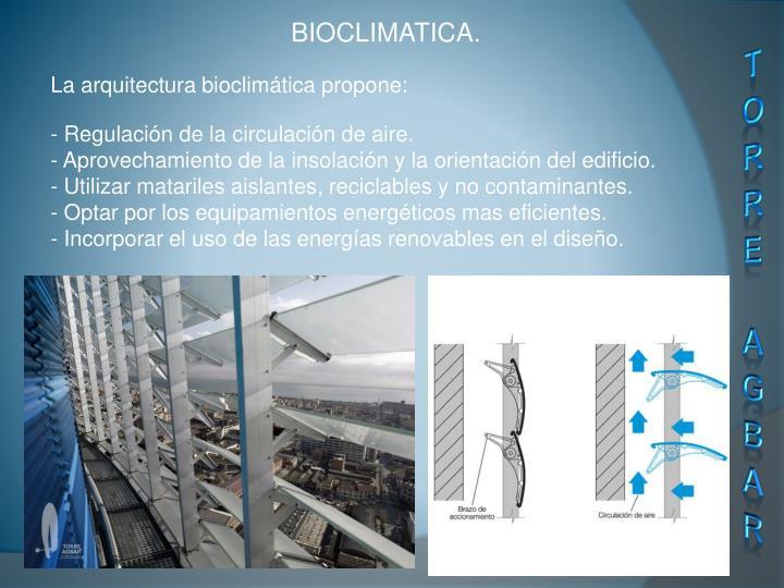 BIOCLIMATICA.