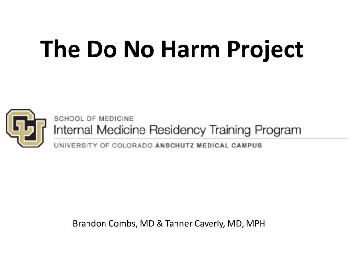 the do no harm project n.