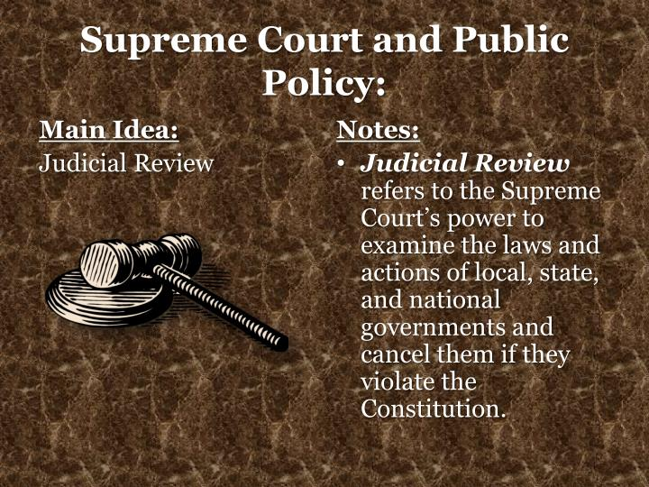 Supreme court and public policy1