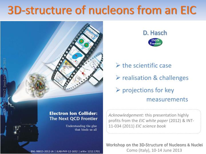 3D-structure of nucleons from an EIC