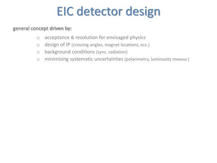 EIC detector design