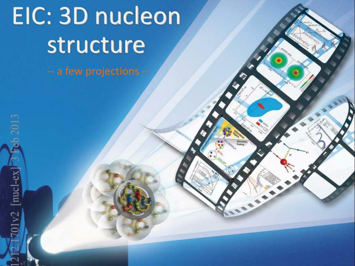 EIC: 3D nucleon structure