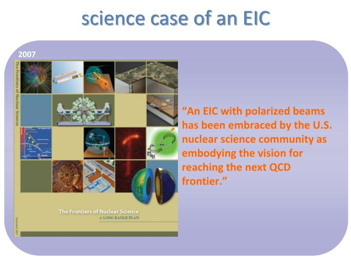 science case of an EIC