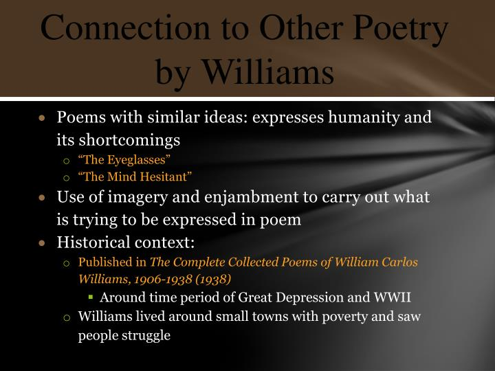 Poems with similar ideas: expresses humanity and its shortcomings