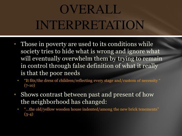 Overall interpretation