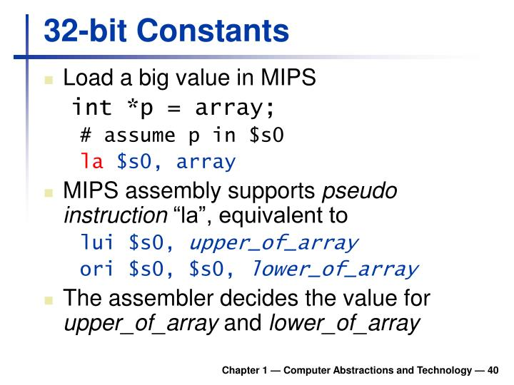 32-bit Constants