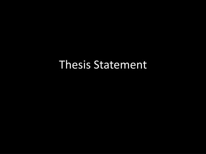 thesis statement n.