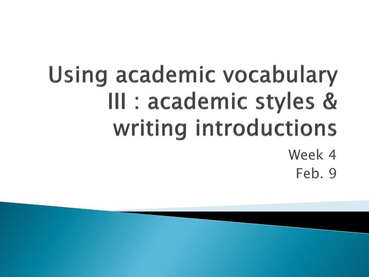 Help with academic writing style ppt