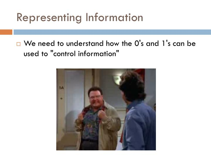 Representing Information