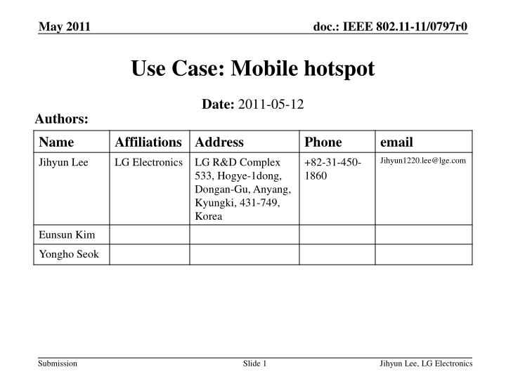 use case mobile hotspot n.