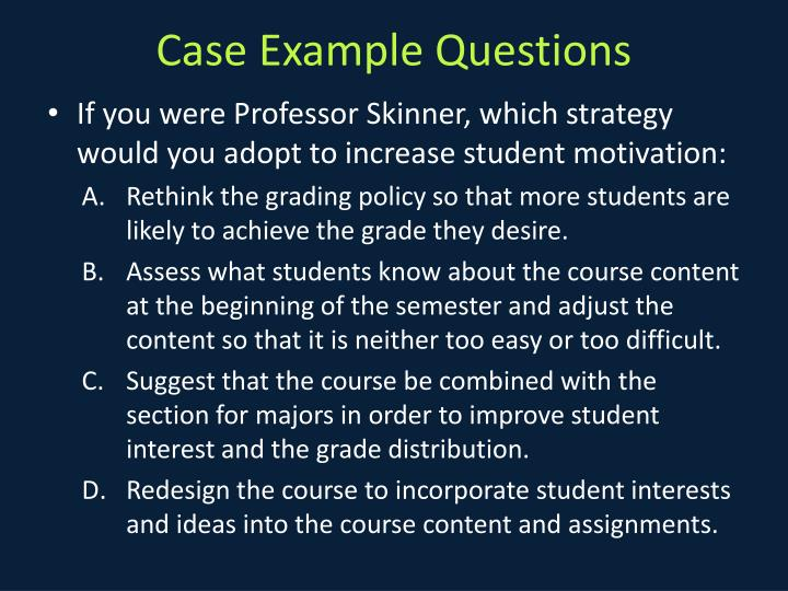 Case Example Questions