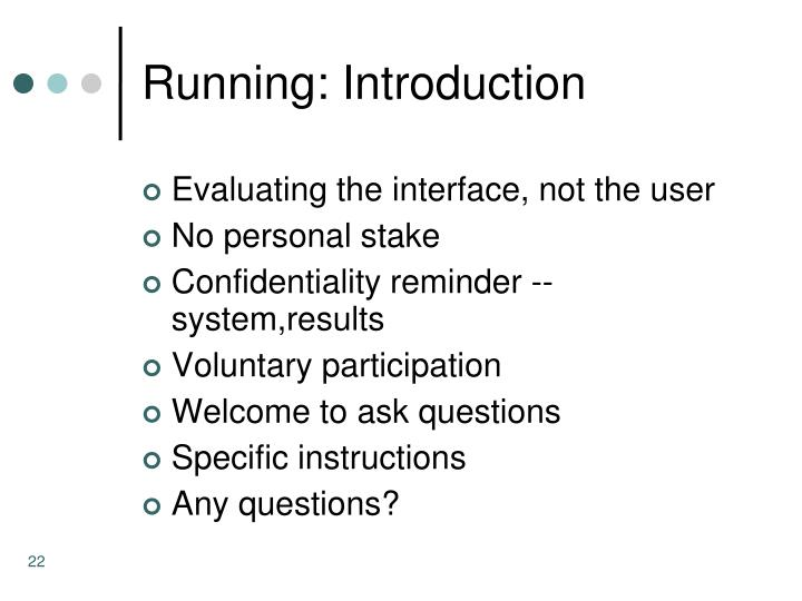 Running: Introduction