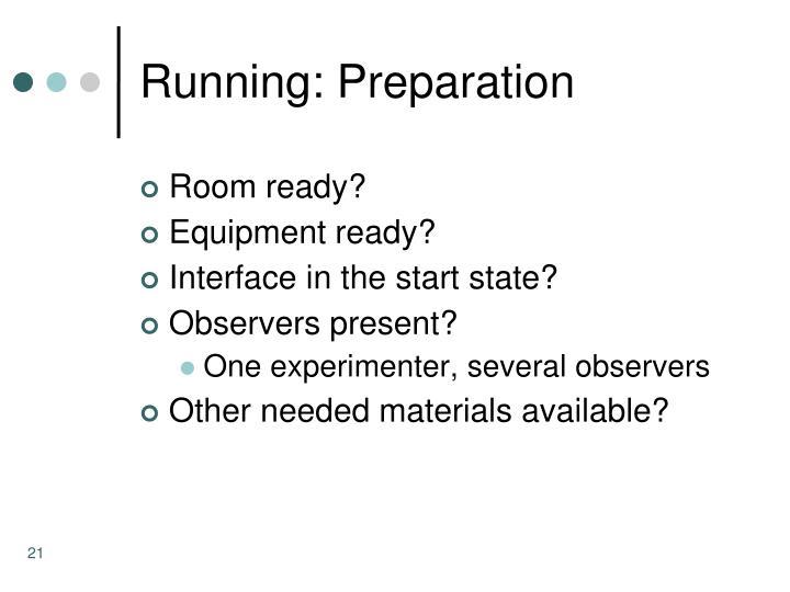 Running: Preparation