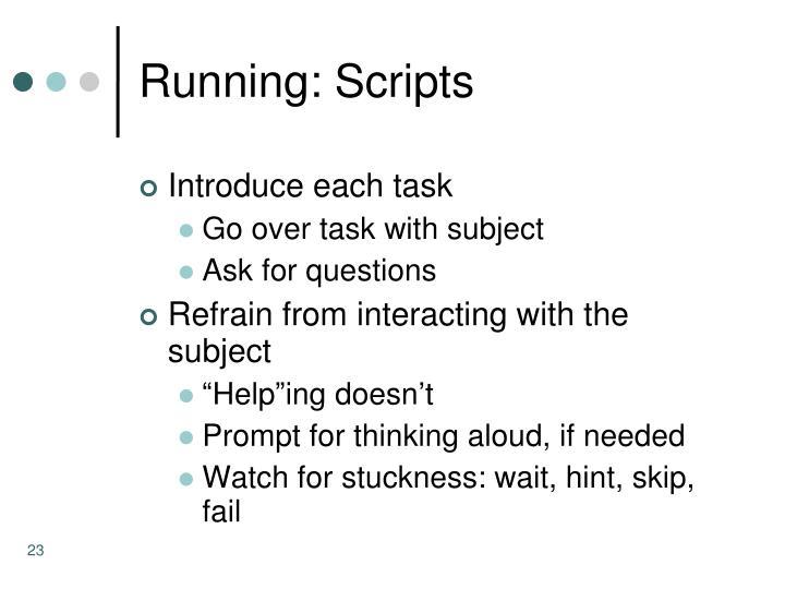 Running: Scripts