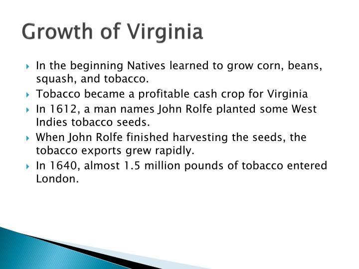Growth of Virginia