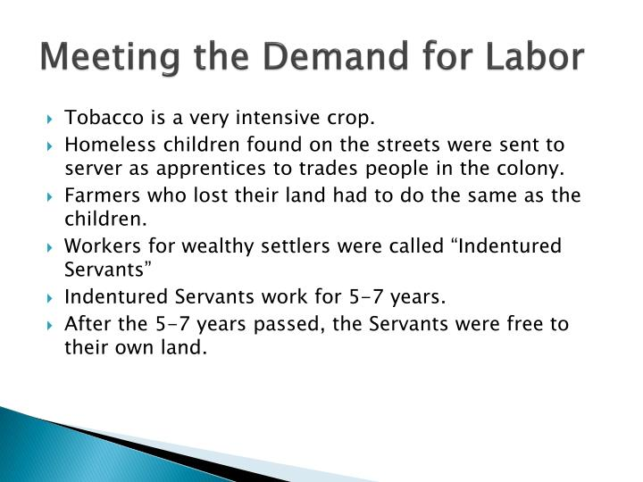 Meeting the Demand for Labor