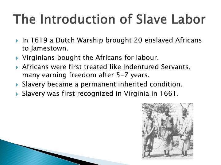 The Introduction of Slave Labor