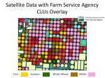 satellite data with farm service agency clus overlay