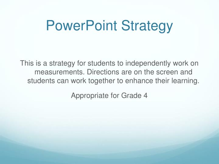 powerpoint strategy n.
