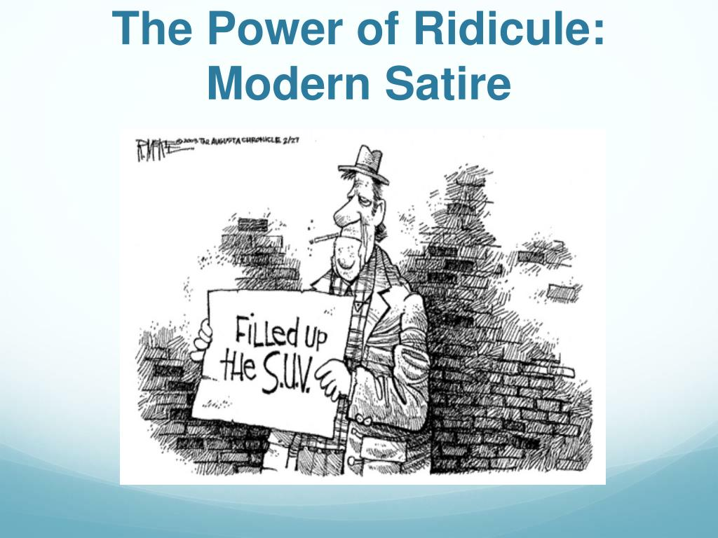 Ppt The Power Of Ridicule Modern Satire Powerpoint Presentation