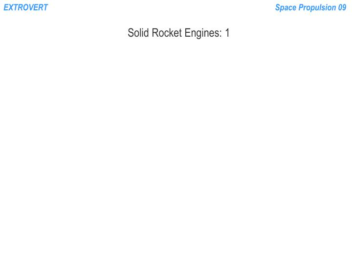 PPT - Solid Rocket Engines: 1 PowerPoint Presentation - ID