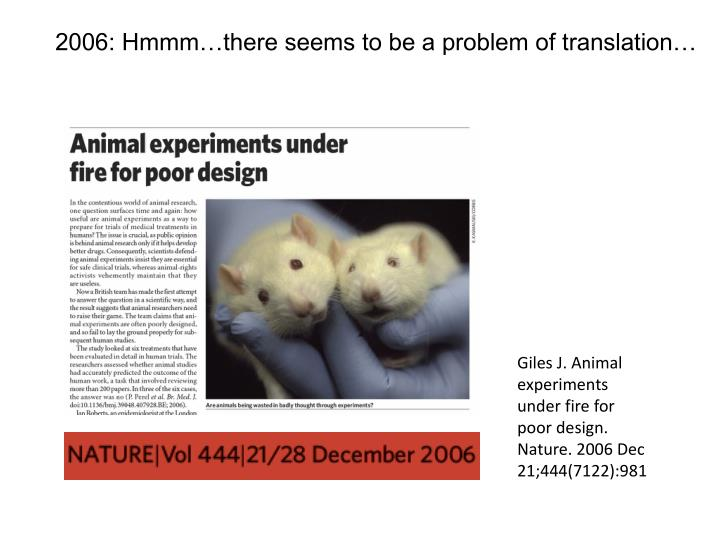 2006: Hmmm…there seems to be a problem of translation…