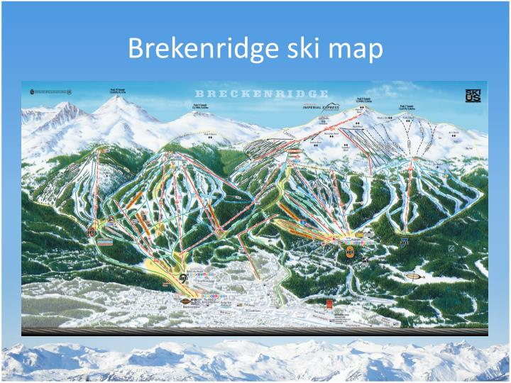 Brekenridge ski map