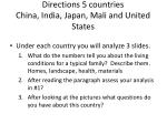 directions 5 countries china india japan mali and united states