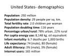 united states demographics