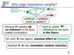 why edge importance weights