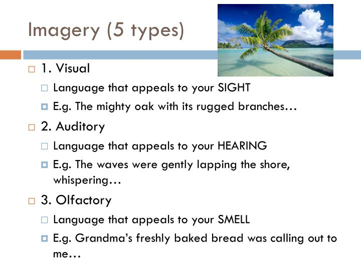 Imagery (5 types)