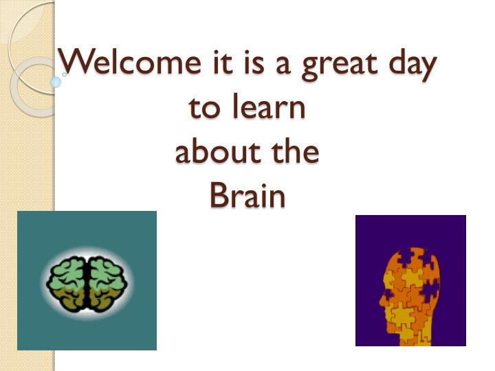 welcome it is a great day to learn about the brain n.
