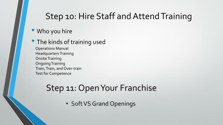 Step 10: Hire Staff and Attend Training