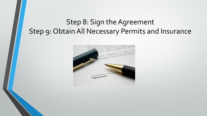 Step 8: Sign the Agreement