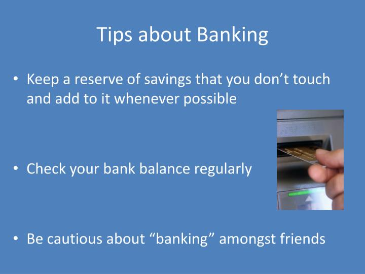 Tips about Banking