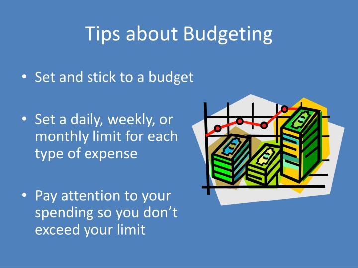 Tips about budgeting