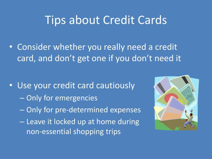 Tips about Credit Cards