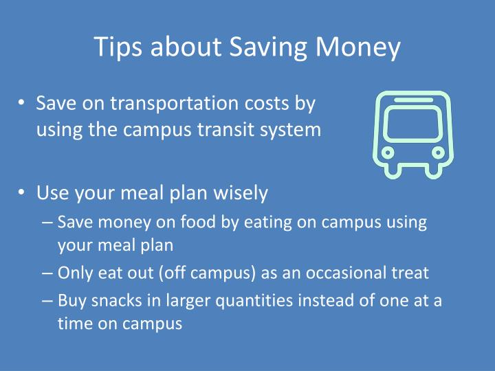 Tips about Saving Money