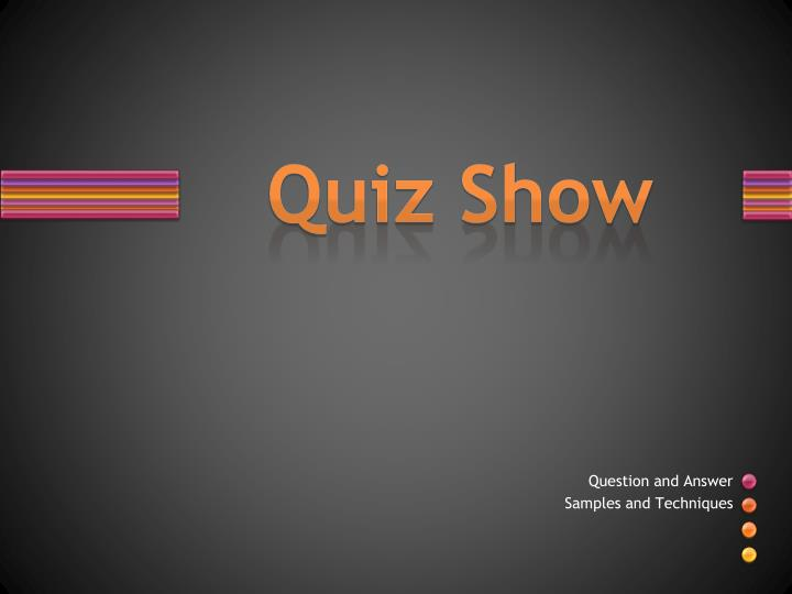 ppt - quiz show powerpoint presentation - id:1953776, Powerpoint templates