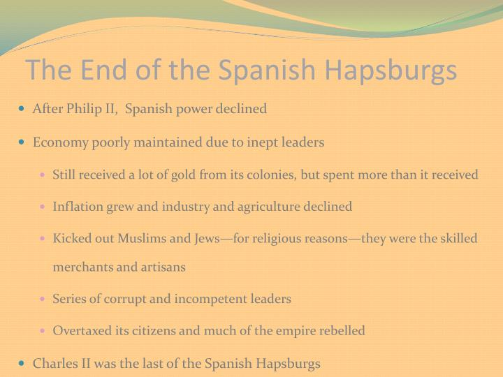 The End of the Spanish Hapsburgs
