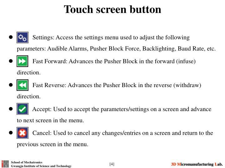 Touch screen button