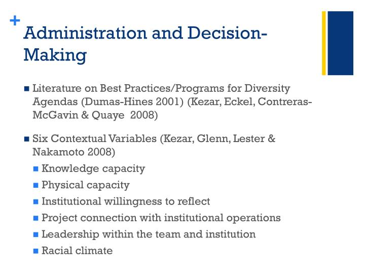 Administration and Decision-Making