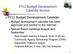 fy12 budget development calendar review