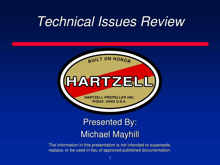 technical issues review n.