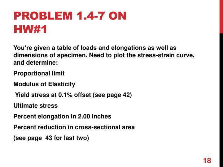 Problem 1.4-7 on HW#1