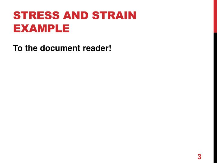 Stress and strain example